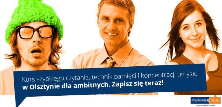 Kurs szybkiego czytania, pamięci i rozwoju IQ dla dorosłych w Olsztynie.