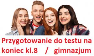 Przygotowanie do egzaminu na koniec szkoły podstawowej lub gimnazjum w Olsztynie