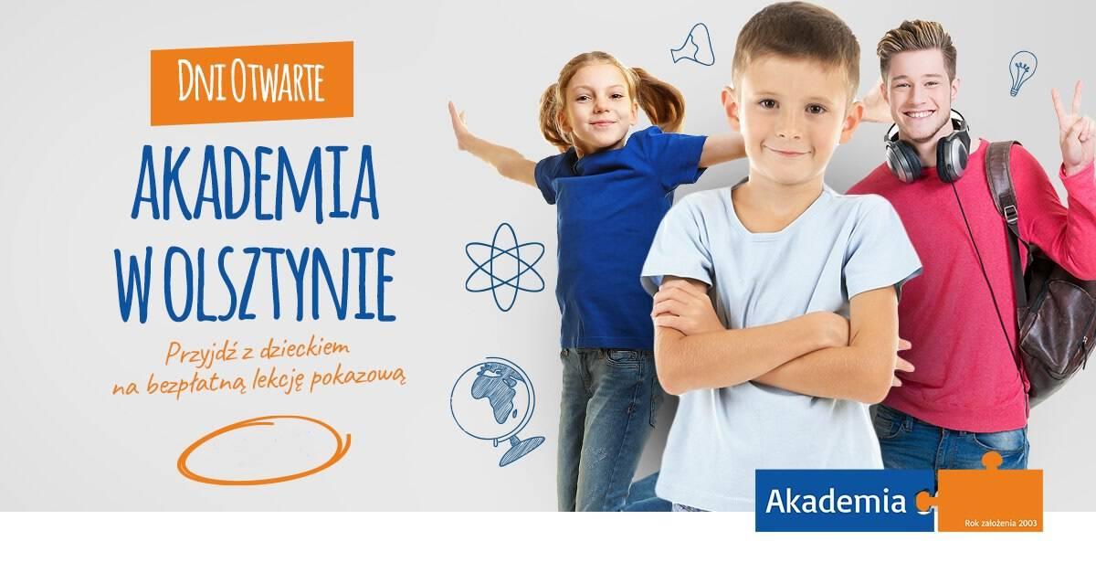 Akademia w Olsztynie. Dobre kursy efektywnej nauki dla dzieci. Dni otwarte. Bezpłatne lekcje pokazowe